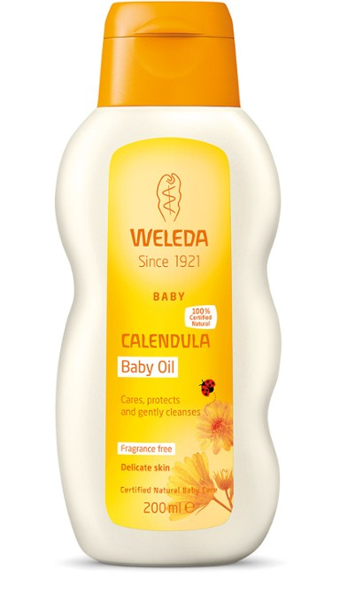 Calendula Baby Oil, fragrance free