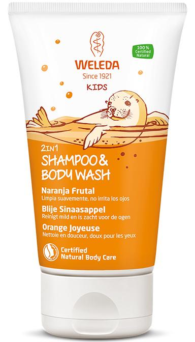 Kids 2in1 Shampoo & Body Wash Blije Sinaasappel