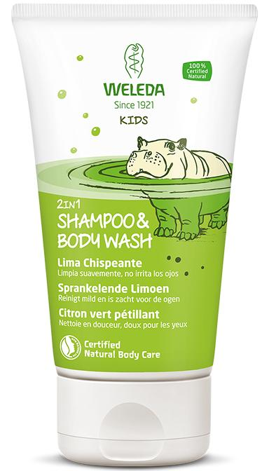 Kids 2in1 Shampoo & Body Wash Sprankelende Limoen